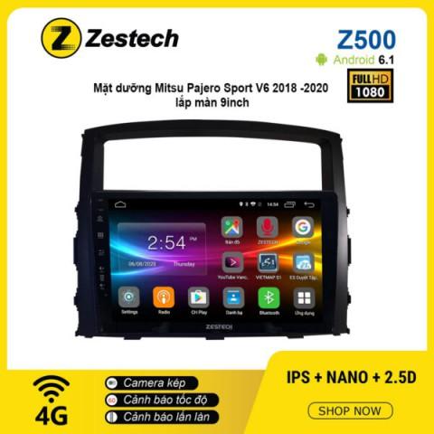 Màn hình ô tô DVD Android Z500 – Mitsu Pajero Sport V6 2018 -2020