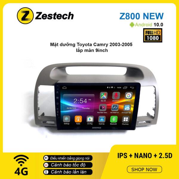 Màn hình ô tô DVD Android Z800 New – Toyota Camry 2003 – 2005