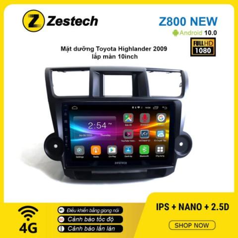 Màn hình ô tô DVD Android Z800 New – Toyota Highlander 2009