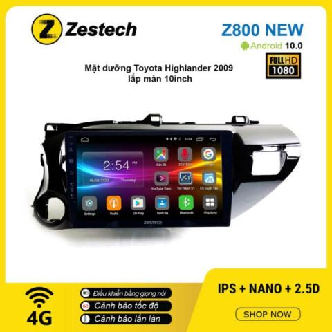 Màn hình ô tô DVD Android Z800 New – Toyota Hilux 2012 – 2018
