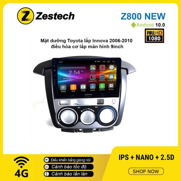 Màn hình ô tô DVD Android Z800 New – Toyota Innova 2006 – 2010 lắp điều hòa cơ