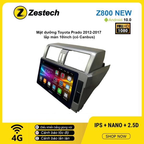 Màn hình ô tô DVD Android Z800 New – Toyota Prado 2012 – 2017