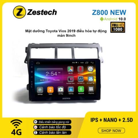 Màn hình ô tô DVD Android Z800 New – Toyota Vios 2019 điều hòa tự động
