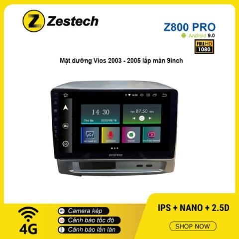 Màn hình ô tô DVD Z800 Pro – Toyota Vios 2003 – 2005