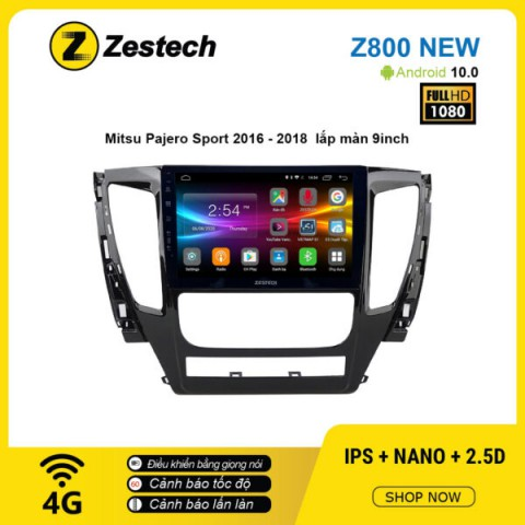 Màn hình ô tô DVD Android Z800 New – Mitsubishi Pajero Sport 2016 – 2018
