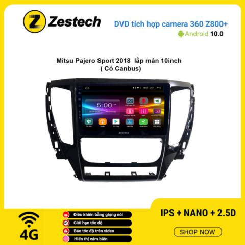 Màn hình DVD Zestech tích hợp Cam 360 Z800+ Mitsubishi Sport 2018