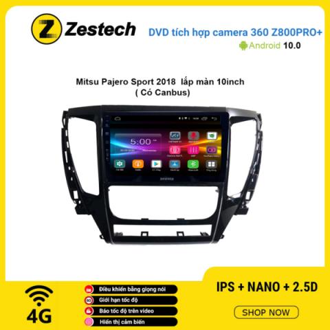 Màn hình DVD Zestech tích hợp Cam 360 Z800 Pro+ Mitsubishi Pajero Sport 2018