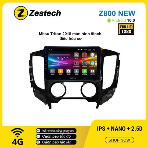 Màn hình ô tô DVD Android Z800 New – Mitsubishi Triton 2018 điều hòa cơ