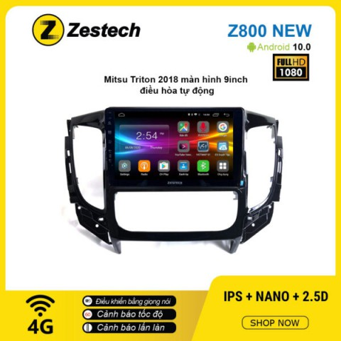 Màn hình ô tô DVD Android Z800 New – Mitsubishi Triton 2018 điều hòa tự động