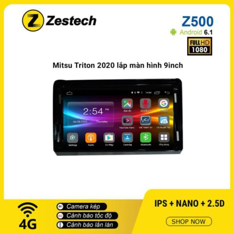Màn hình ô tô DVD Android Z500 – Mitsubishi Triton 2020