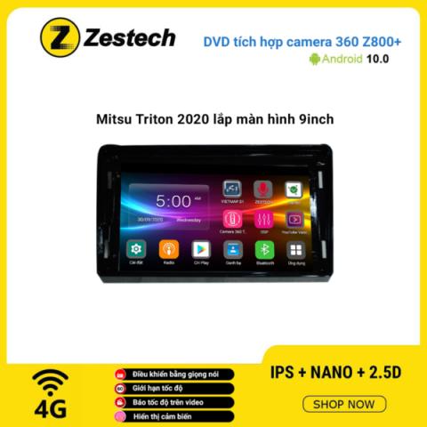 Màn hình DVD Zestech tích hợp Cam 360 Z800+ Mitsubishi Triton 2020