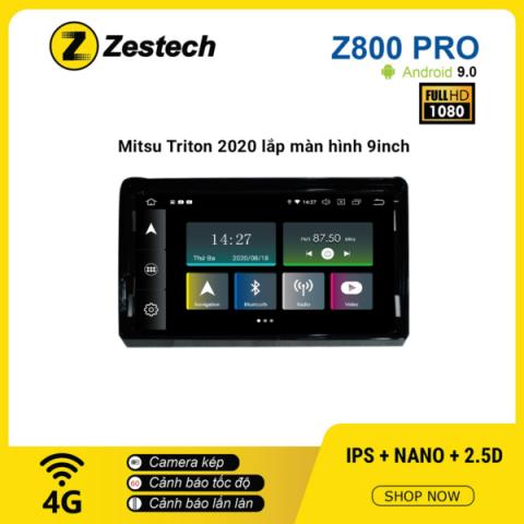 Màn hình ô tô DVD Z800 Pro – Mitsubishi Triton 2020