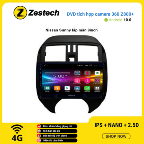 Màn hình DVD Zestech tích hợp Cam 360 Z800+ Nissan Sunny
