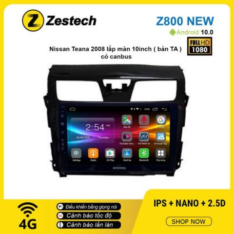 Màn hình ô tô DVD Android Z800 New – Nissan Teana 2008 có Canbus
