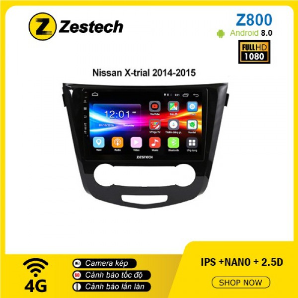 Màn hình ô tô DVD Android Z800 – Nissan Xtrial