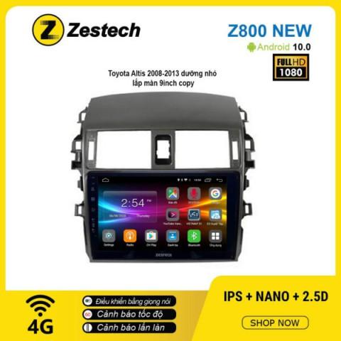 Màn hình ô tô DVD Android Z800 New – Toyota Altis 2008 – 2013
