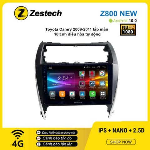 Màn hình ô tô DVD Android Z800 New – Toyota Camry 2009 – 2011 điều hòa tự động