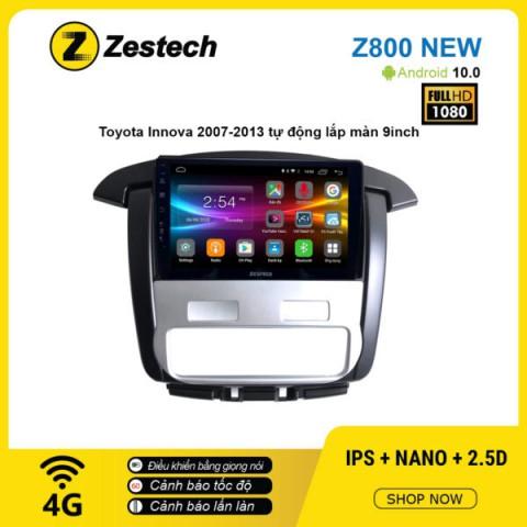 Màn hình ô tô DVD Android Z800 New – Toyota Innova 2007 – 2013 điều hòa tự động