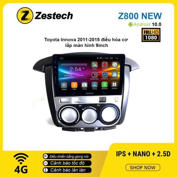 Màn hình ô tô DVD Android Z800 New – Toyota Innova 2011 – 2015 điều hòa cơ