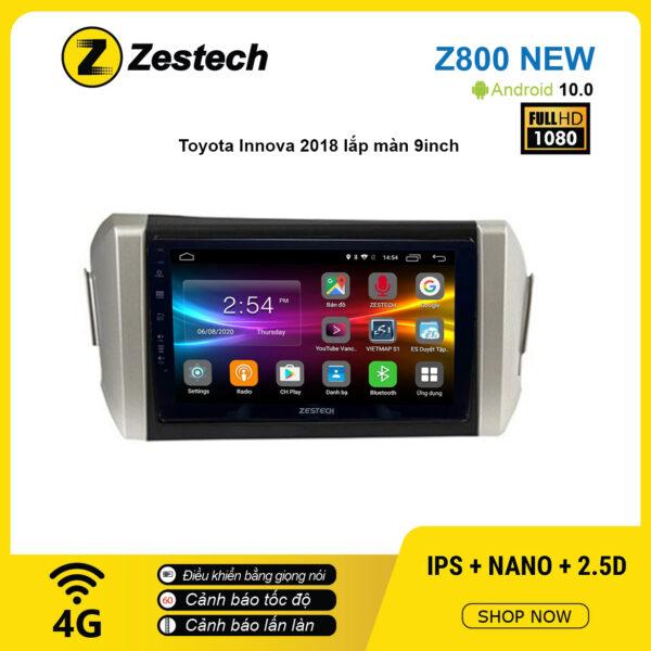 Màn hình ô tô DVD Android Z800 New – Toyota Innova 2018
