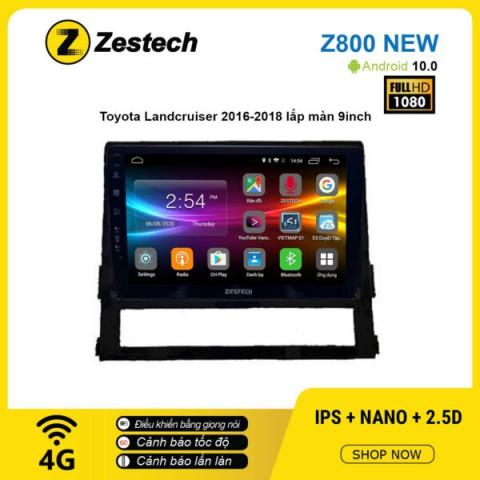 Màn hình ô tô DVD Android Z800 New – Toyota LandCruiser 2016 – 2018