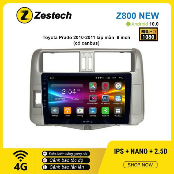 Màn hình ô tô DVD Android Z800 New – Toyota Prado 2009 – 2010 có canbus