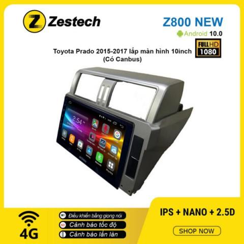 Màn hình ô tô DVD Android Z800 New – Toyota Prado 2015 – 2017