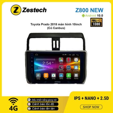 Màn hình ô tô DVD Android Z800 New – Toyota Prado 2018