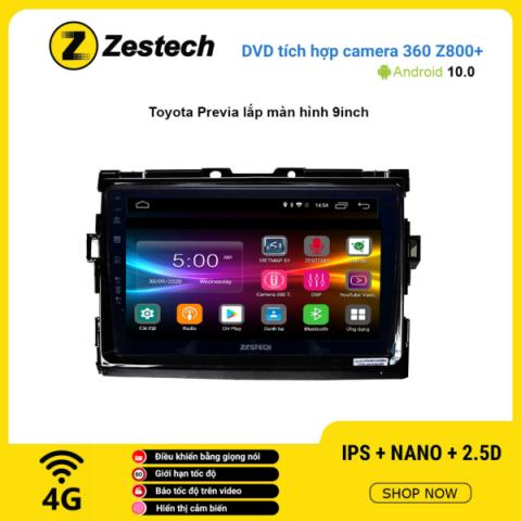 Màn hình DVD Zestech tích hợp Cam 360 Z800+ Toyota Previa