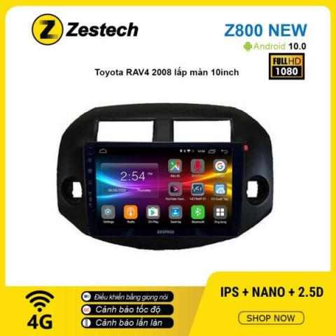 Màn hình ô tô DVD Android Z800 New – Toyota RAV4 2008