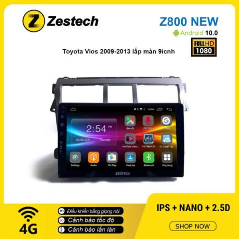 Màn hình ô tô DVD Android Z800 New – Toyota Vios 2009 – 2013
