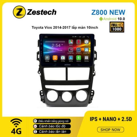Màn hình ô tô DVD Android Z800 New – Toyota Vios 2019 điều hòa cơ