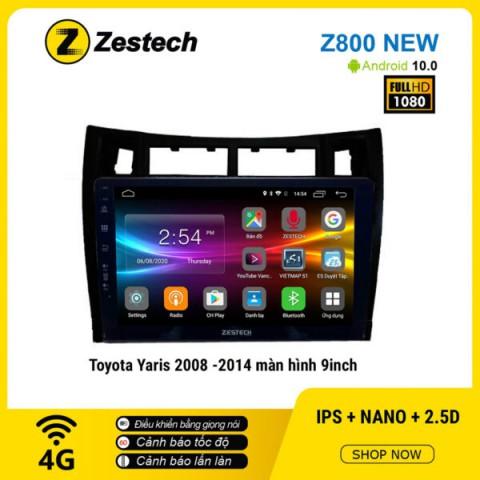 Màn hình ô tô DVD Android Z800 New – Toyota Yaris 2008 – 2014