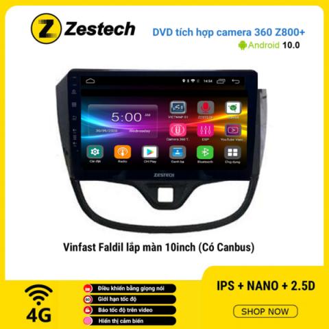Màn hình DVD Zestech tích hợp Cam 360 Z800+ Vinfast Fadil