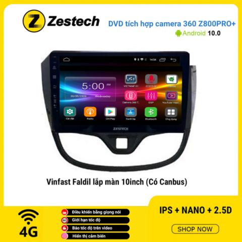 Màn hình DVD Zestech tích hợp Cam 360 Z800 Pro+ Vinfast Fadil