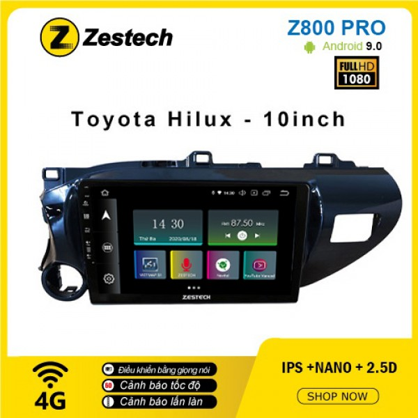 Màn hình ô tô DVD Z800 Pro – Toyota Hilux