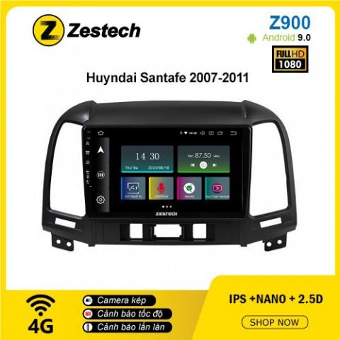 Màn hình ô tô DVD Android Z900 – Hyundai Santafe