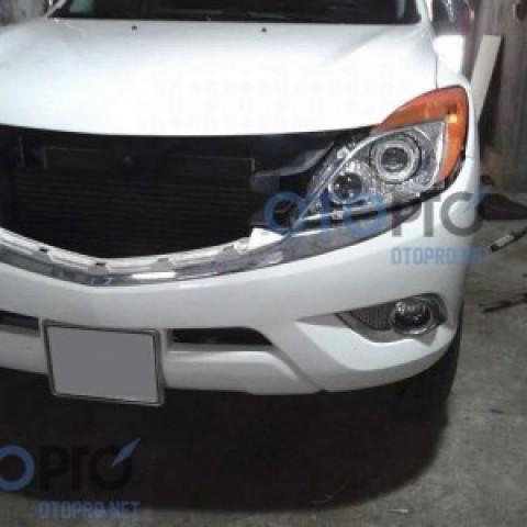 Độ đèn pha bi xenon, angel eyes LED xe Mazda BT50