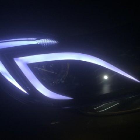 Độ bi hella 5 led mí khối Mazda BT50
