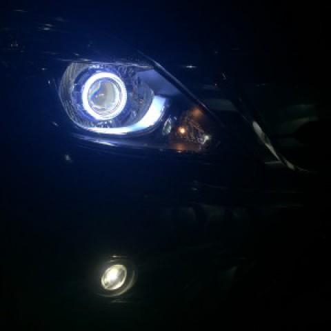 Mazda BT 50 2016 độ Q5 pha, vòng Angel, bi gầm đài loan :