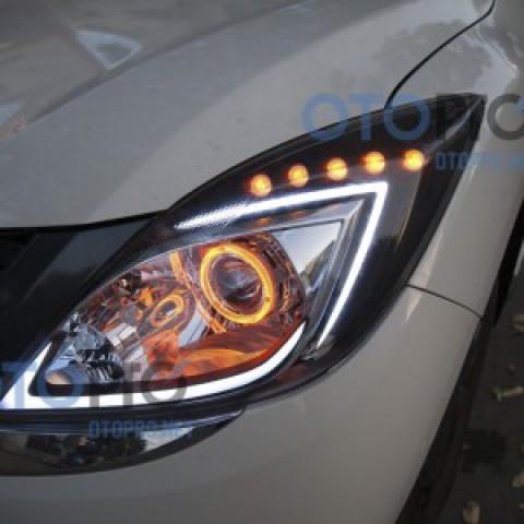 Độ đèn bi xenon, angel eyes, LED mí khối xe Mazda BT50