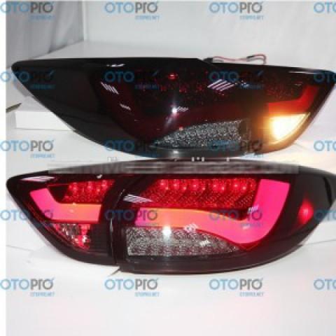 Đèn hậu độ LED nguyên bộ cho xe Mazda CX-5 mẫu BMW đỏ đen