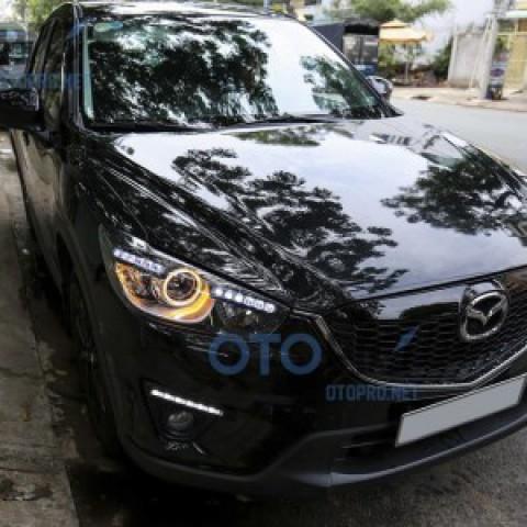 Độ vòng angel eyes, LED mí daylight cho xe Mazda CX5