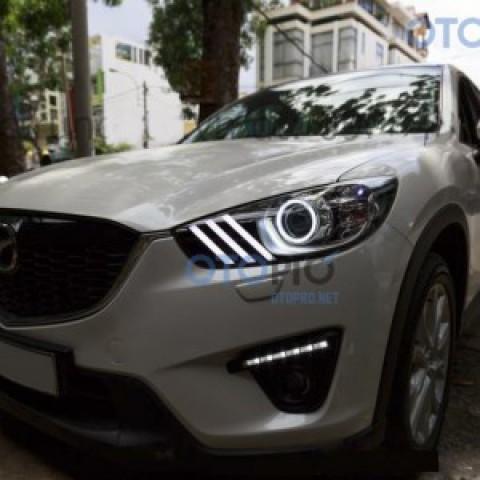 Độ đèn angel eyes, LED mí xe Mazda CX5 mẫu Mustang
