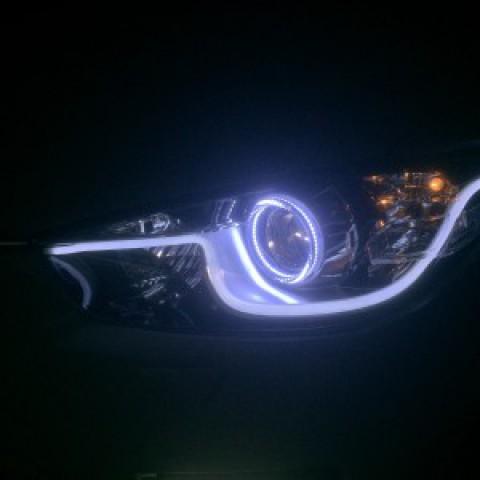 Độ led mí vòng angel và led mí gầm Mazda CX5