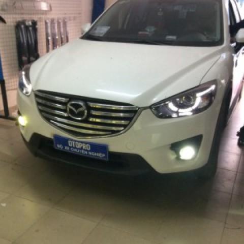Mazda CX5 2017 lắp mặt dưỡng và bi gầm