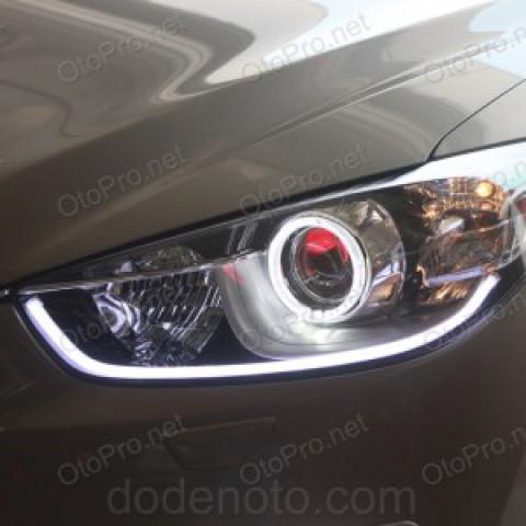 Độ LED mí khối trắng vàng, angel eyes kiểu BMW, Mazda CX 5