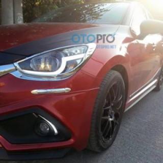 Mazda 2 All New độ đèn Bi-xenon, LED mí khối