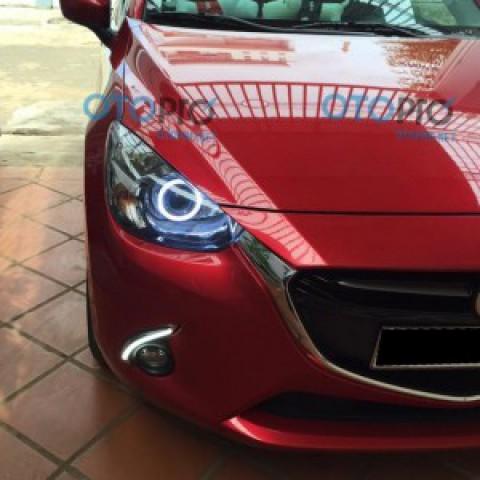 Mazda 2 All New độ đèn Bi-xenon, vòng Angle eyes