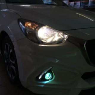 Mazda 2 Độ Bi Gầm Và Lắp Led L7